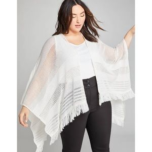 open-stitch wrap poncho / shawl